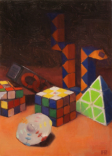 Twisty Puzzles, Oil Painting